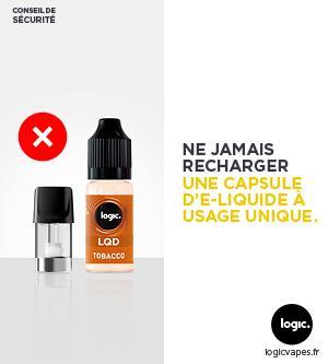 précaution d'emploi e-liquide Logic